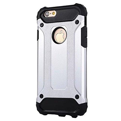 IPhone 5S / SE Case - Litastore Romper-Resistente Madera Teléfono Case Iphone 5S / SE PC+TPU tres-en-uno Paquete Resistente a Prueba de Choques Cubre Caja de Madera - Cielo azul Plata