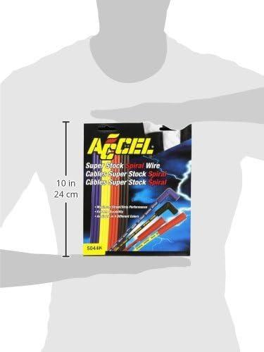 Accel 5044K 8 mm Super Stock Black Spiral Wire Set