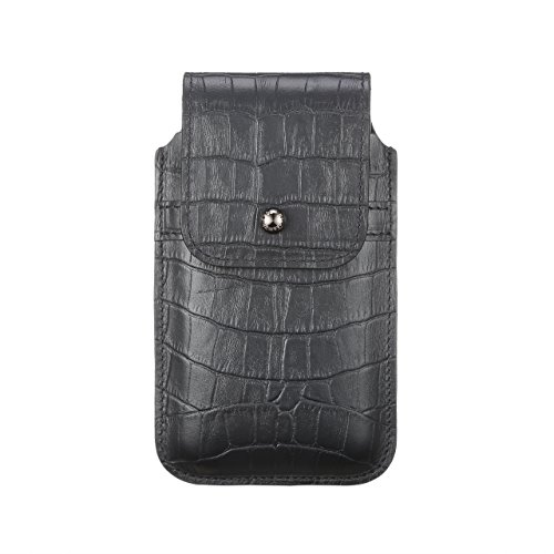 Blacksmith-Labs Barrett Mezzano 2017 Premium Genuine Leather Swivel Belt Clip Holster for Apple iPhone 6/6s/7 (4.7'') for use with Apple Leather Case - Black Croc Embossed Cowhide/Gunmetal Belt Clip by Blacksmith-Labs (Image #5)