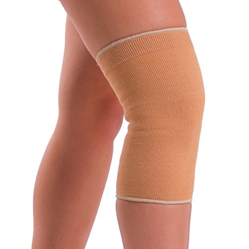 BraceAbility Plus Size Elastic Slip-on Knee Sleeve | Cotton Fabric Knee Pain Compression Bandage for Stretchy, Lightweight & Comfortable Support (Ace Lightweight Brace)