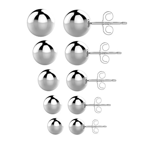 4mm Round Stud Earrings - 4