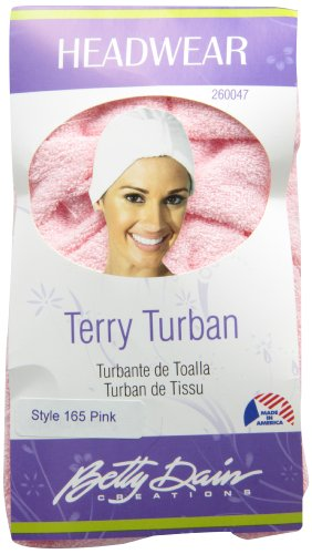 Betty Dain Stretch Terry Cloth Turban, Pink