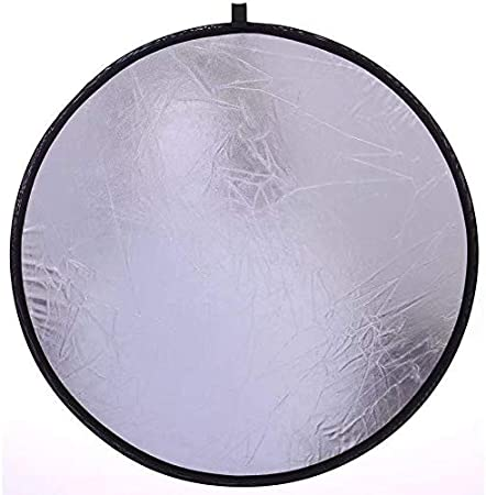 5 in 1 Portable Collapsible Light Round Photography Reflector for Studio Multi Photo Disc, 60 cm