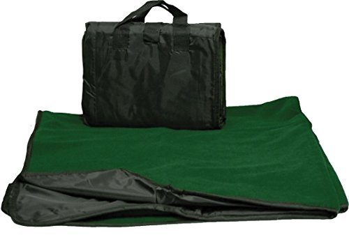 "CozyCoverz Waterproof Stadium Blanket / Picnic Blanket 50"" x 60"" (Black/Forest Green)"