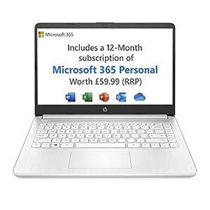 HP Stream 14s-fq0023na 14 Inch Laptop (AMD Athlon 3020e, 4 GB RAM, 64 GB eMMC, Windows 10 Home S)