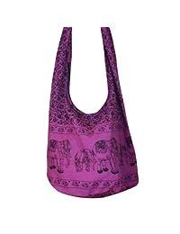 Elefante Hippie para bolso tailandés Crossbody bolsa bandolera con cremallera superior hecho a Color nuevo: Morado envío gratis
