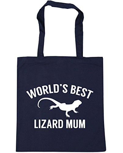 HippoWarehouse 42cm Shopping Tote Gym Beach World's Bag Navy best litres mum x38cm 10 lizard French zqIxzrX4