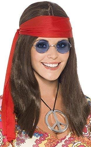 Ladies 1960s Hippy 70s 60s Costume Accessories 1970s Womens Hippie Kit Peace