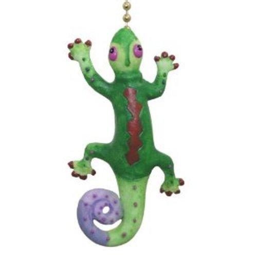 Tropical Gecko Lizard Tiki Bar Ceiling Fan Light Pull