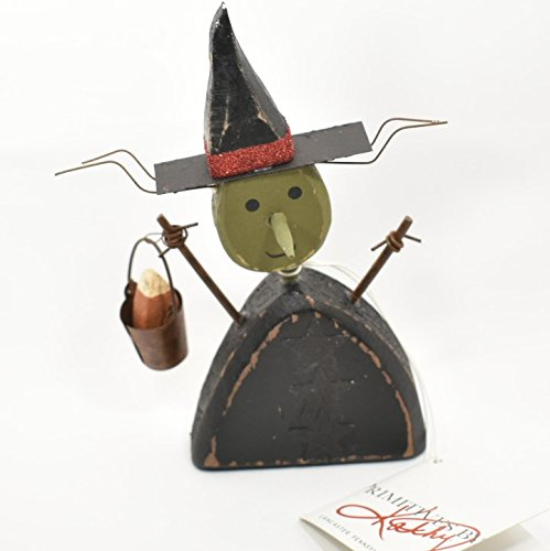 Primitives by Kathy Vintage Style Chunky Witch Sitter Halloween Figurine New ()