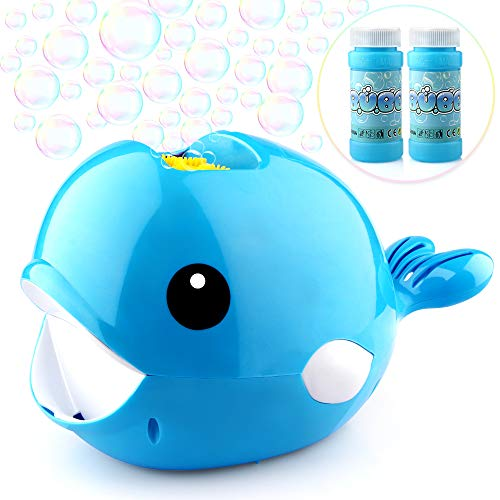 Betheaces Bubble Machine - Automatic Whale Bubble Maker Over 2000 Bubbles Per Minute Bubble Blower Toy for Kids Boys Girls Age of 4,5,6,7,8-16 Easy to Use of Indoor, Outdoor, Party, Wedding (Best Bubble Machine For Parties)
