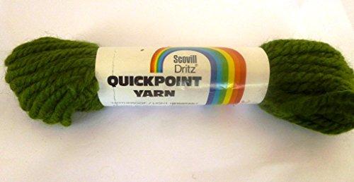 Fern Green Scovill Dritz Quickpoint 100% Wool Yarn (Rug Ferns Brown)