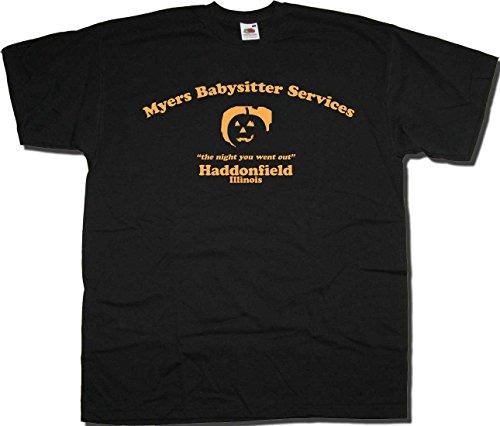 Old Skool Hooligans Myers Babysitter Services T shirt Haddonfield Illinois Halloween (Haddonfield Illinois Halloween)