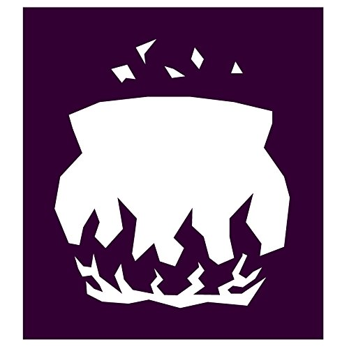 Auto Vynamics - STENCIL-WITCH-CAULDRON - Classic Witch's Cauldron Individual Stencil from Detailed Witches & Witchcraft Stencil Set! - 9.5-by-10-inch Sheet - Single Design