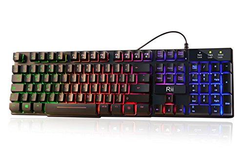 Rii Rk100 7 Color Rainbow Led Backlit Mechanical Feeling