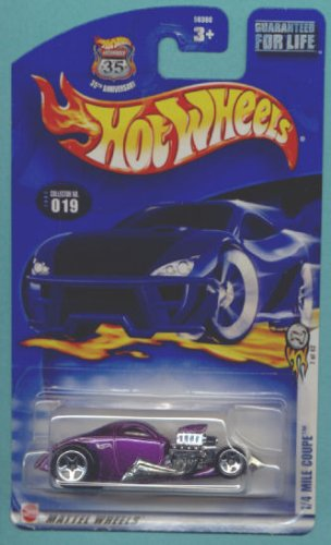 Mattel Hot Wheels 2003 1:64 Scale Purple 1/4 Mile Coupe Die Cast Car #019