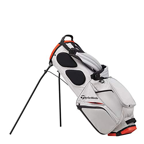 TaylorMade 2019 Flextech Lite Stand Golf Bag, Silver/Blood Orange