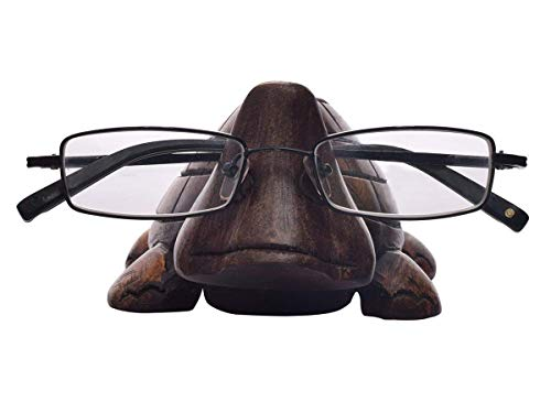 Three Eye Store Wooden Turtle Eyeglass Spectacle Holder Handmade Stand for Office Desk Home Decor Spectacle Holder Reading Glasses Stand in Cute Unique -