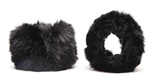 Short Faux Fur Cuffs Wrist Arm Warmers Band Winter Accessory Christmas Gift