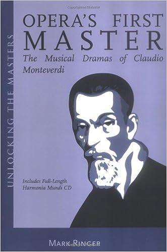 Opera's First Master: The Musical Dramas of Claudio Monteverdi (Unlocking the Masters) by Mark Ringer (2006-05-18)