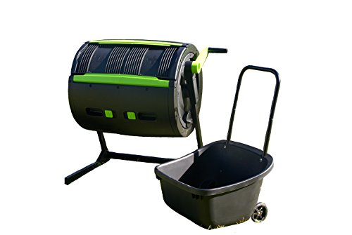 RSI MCT-MC Two Stage Cart Compost Tumbler, Black (Compost Wheels)