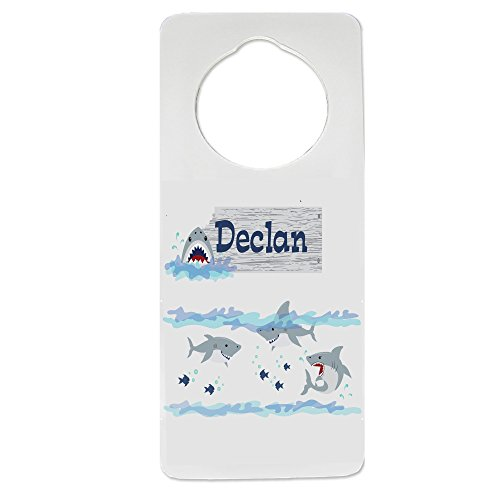 Personalized Shark Tank Nursery Door Hanger by MyBambino