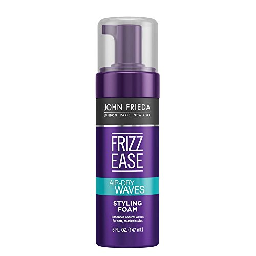 John Frieda Frizz Ease Dream Curls Air Dry Waves Styling Foam, 5 Ounce (Best Mousse For Scrunching Straight Hair)