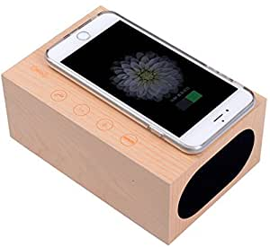 Amazon HKSUNKIN Wireless Charger 5W Wooden Bluetooth