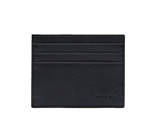 Prada Saffiano Leather Card Case Wallet, Nero 2MC223