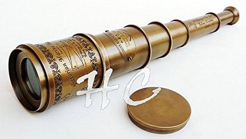 A S Handicrafts Pirates spyglass scope, brass handheld