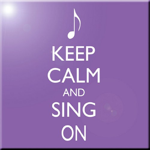 Rikki Knight Keep Calm and Sing on Violet Color Design Art Ceramic Tile 4 by 4-Inch