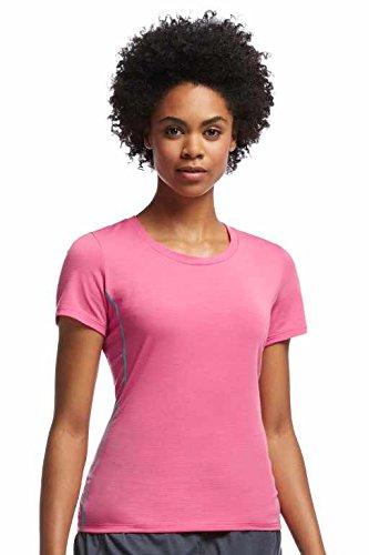 Icebreaker T-Shirt Aero Short Sleeve Crewe - Camisa / Camiseta para mujer, color rosa, talla XL rosa