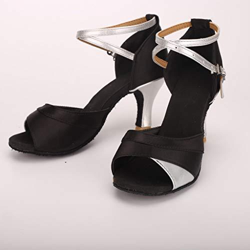 Caviglia 7cm A Cinturino Spillo Scarpe Latino 5cm Da Tacchi standard Argento sala Meibax Ballo Tacco Donna Ballo qwZw1HSz