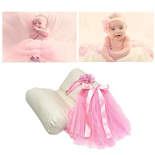 a48c77fc9787 Newborn Photography Props for Girl Set – Butterfly Baby Pillow & Newborn  Photography Outfit – Pink Tutu & Flower Headband ...