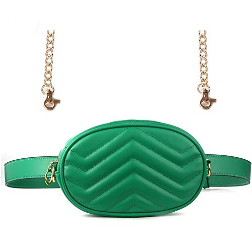 Fanny Pack,Waist Pack for Women Fashion Womens Elegant Leather Fanny Pack Cute Waist Pouch Stylish Travel Cell Phone Bag(Green)