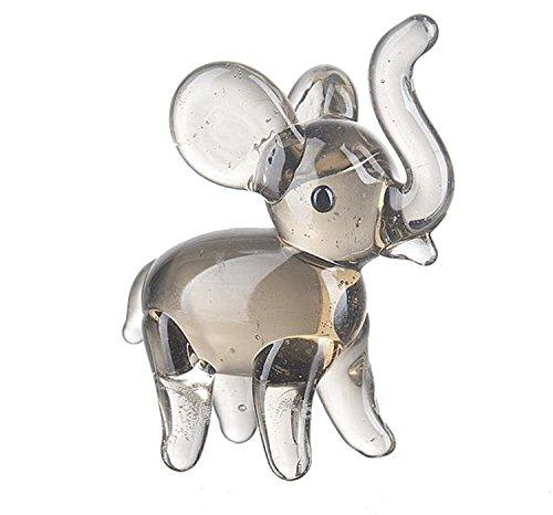 Elephant Miniature Figurine (Miniature Glass Elephant by Ganz)