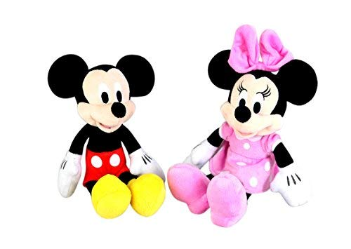 Disney Junior Mickey and Minnie Mouse Plush Toy Set, 11 Inch from Disney Souvenirs