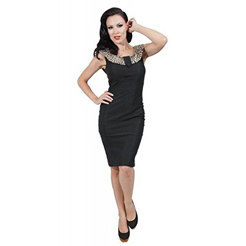 Rock Steady Jane Wiggle Dress in Black XLarge