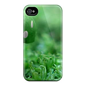 Hot ZbRpMRj2806uhMOF Case Cover Protector For Iphone 4/4s- Green Mushroom Wide