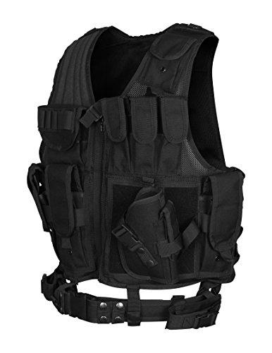 10Code Law Enforcement Tactical Vest Outdoor Adjustable Light Weight Black Vest Combat Training Air Soft Vest