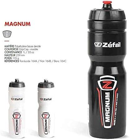 Zefal Magnum Bidón, Unisex Adulto, Negro, 1000 ml: Amazon.es ...