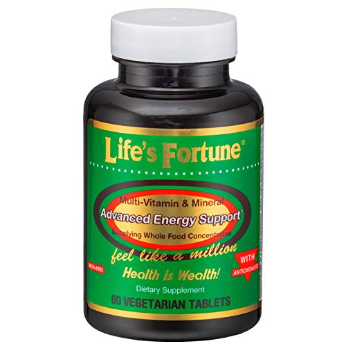 Life's Fortune Multivitamin & Mineral 60 Tablets, All Natural Energy Source Supplying Whole Food Concentrates, Antioxidants, Amino Acids, Enzymes, Trace Minerals & All Daily Essential Vitamins