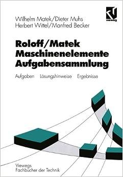 Book Maschinenelemente, Aufgabensammlung