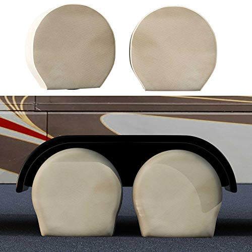 TCP Global Set of 4 Canvas Wheel Tire Covers for RV Auto Truck Car Camper Trailer Fits 31