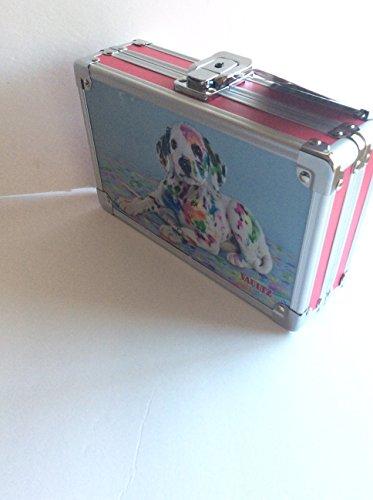 - Vaultz Locking Supply Box, 5.5 x 8.25 x 2.5 Painted Puppy