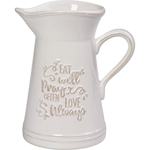 Precious Moments 173410 Ceramic Kitchen Utensil Holder Or Pitcher, One Size, ()