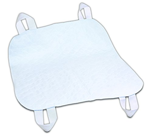 (Essential Medical Supply Quik-Sorb Brushed Polyester Underpad with Positioning Straps, 34 inch X 35 inch, 3 Count)