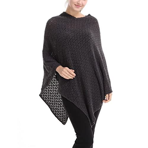 Ferand Elegant Crochet Knit V Neck Pullover Poncho for Women for cheap
