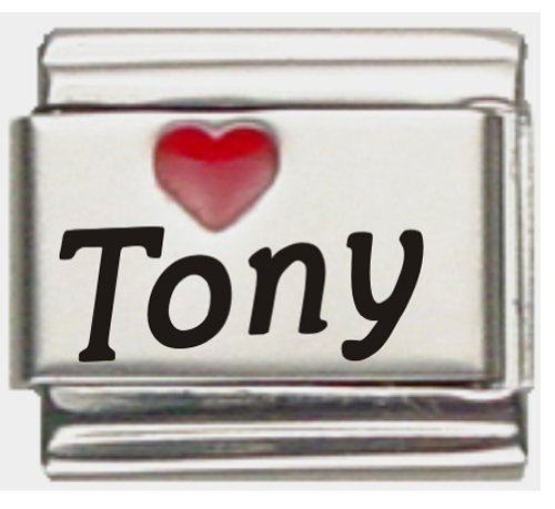 Tony Red Heart Laser Name...