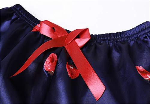 Casa Sexy Vestiti Coreano Di Lunghe Di Seta Nuova Imbracatura JYHTG Femminile Pigiama Primavera Estate Maniche Sette Vestiti Pezzi M Simulazione Pantaloncini qnP1xa